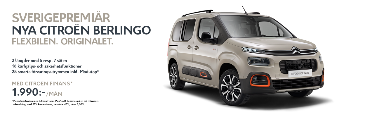 Nya Berlingo showroom banner